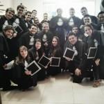 Formandos primeira turma de Engenharia de Biossistemas.