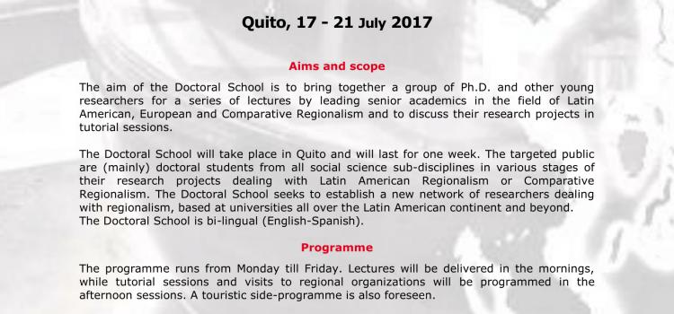 NEPEI Participa – Sexta escuela Doctoral sobre Regionalismo Latinoamericano, europeo Y comparado