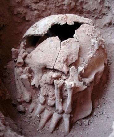 Pesquisadores descobrem crânio decapitado em Minas Gerais.