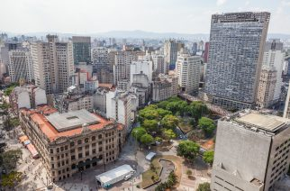 Vista aérea do centro de São Paulo