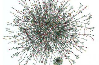 O grafo é uma representação de  rede. Imagem: Remco van der Hofstad