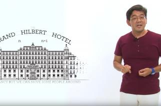 Jackson Itikawa, pesquisador do ICMC-USP, fala sobre o paradoxo do hotel de Hilbert (Reprodução)