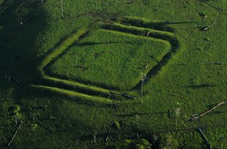 Geoglifo de Água Fria, no Acre. Foto: Diego Gurgel.